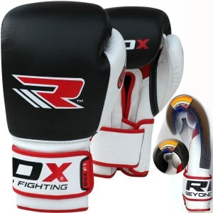 RDX Cow Hide Leather Gel Boxing Gloves