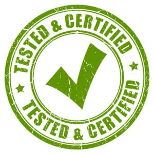 40959297 - tested and certified stamp