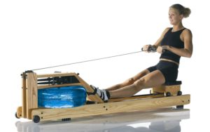 water rower in use