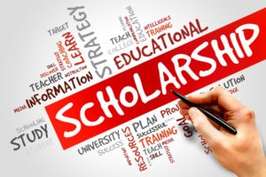 40765392 - scholarship word cloud, education concept